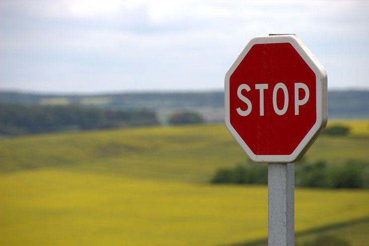 Imagine a STOP sign