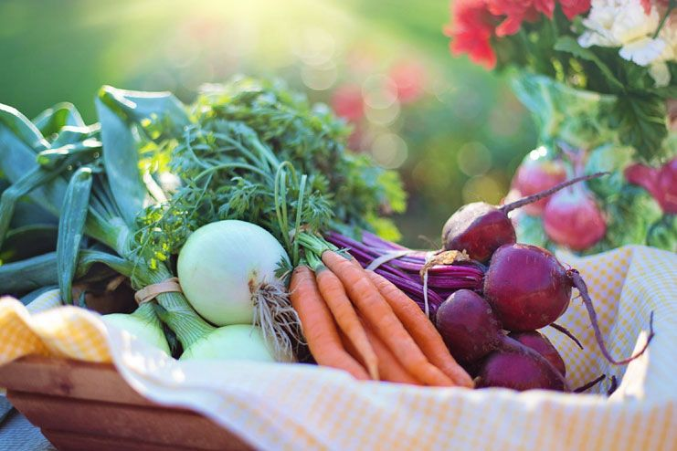 Raw or cooked vegetables