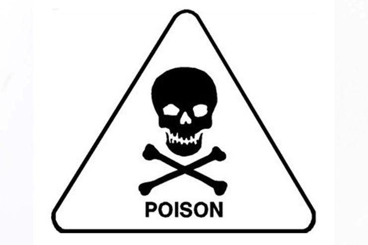 Risk of toxic poisoning