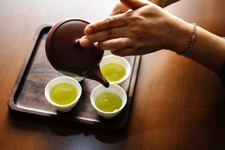 Green tea helps too