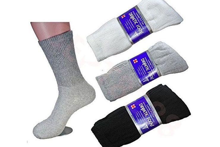 LM 12 Pairs Diabetic Crew Socks Unisex