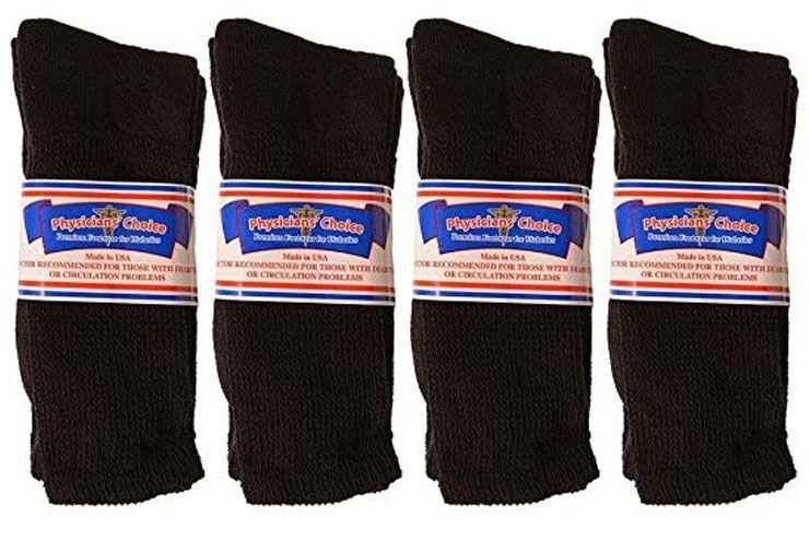 Physician-s Choice Men-s Diabetic Crew Socks - Cotton Blend