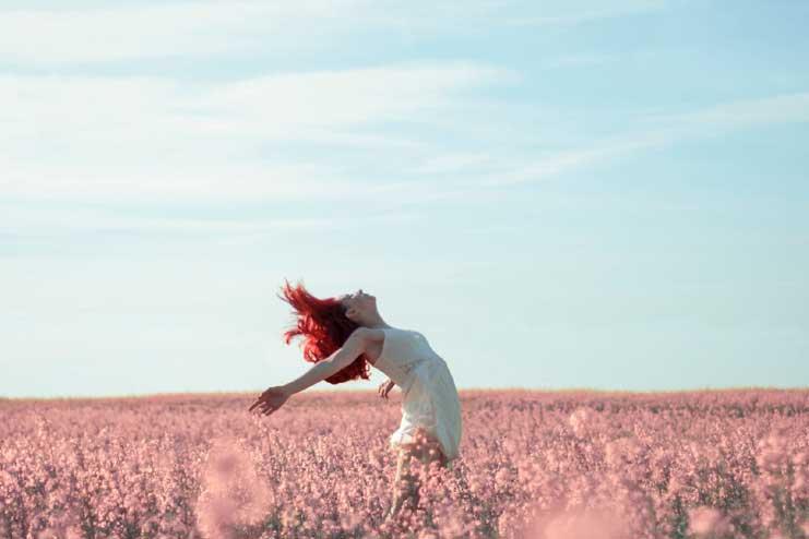 Exhilarating feeling of freedom