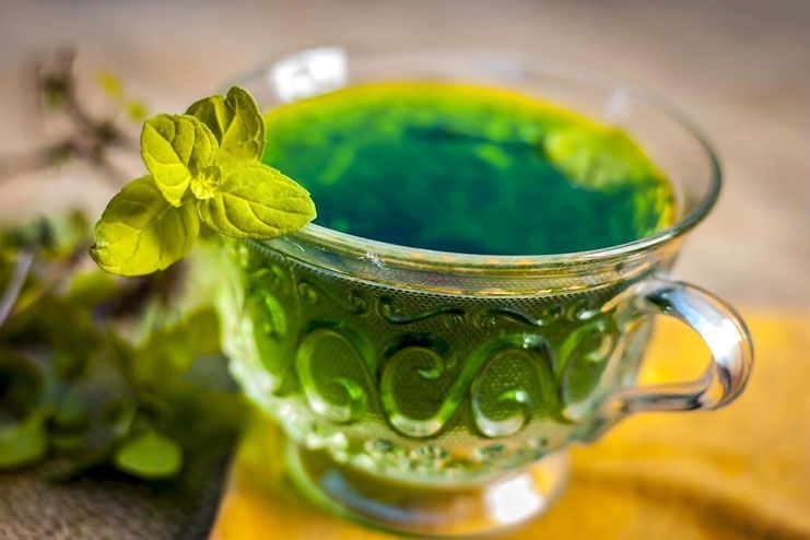 Holy basil leaves tea