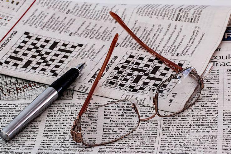 Indulge in crossword puzzles