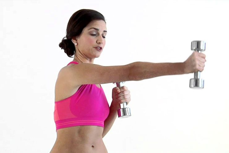 Jab cross with dumbbells
