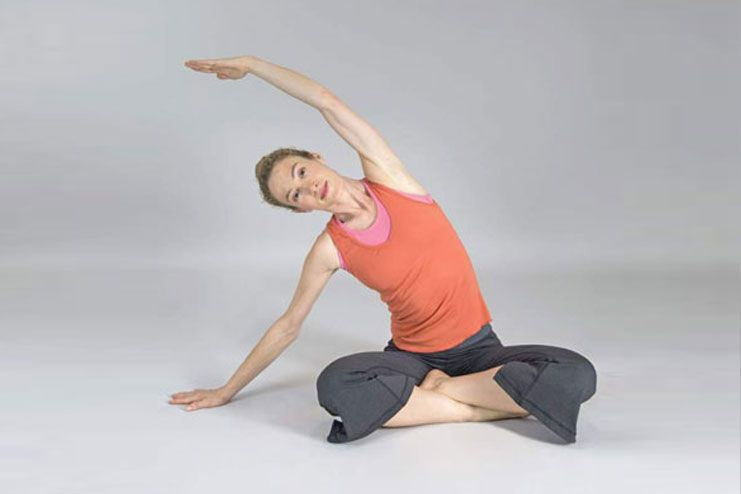 Side bending sitting posture