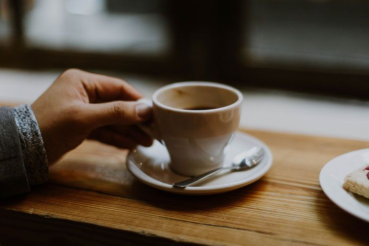 Monitor caffeine intake