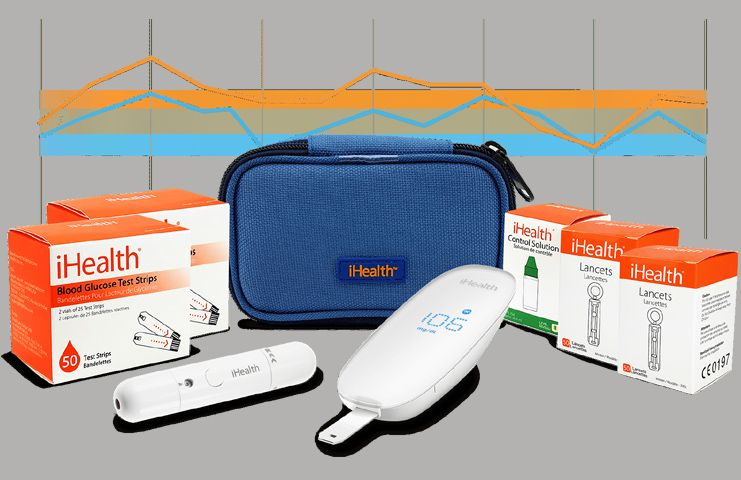 iHealth Smart Wireless Diabetes Testing Kit with 50 Strips