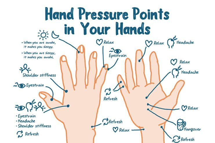 Stimulate the pressure points
