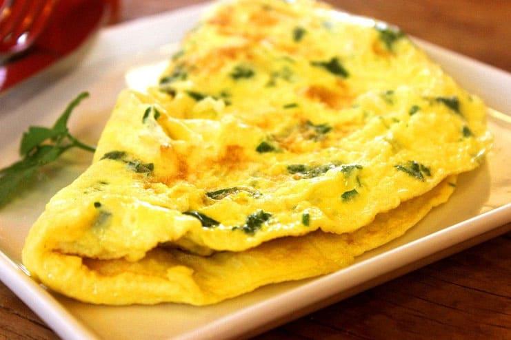 Vegetables omelet