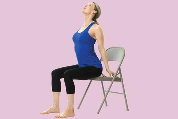 Seated Back Bend Pose
