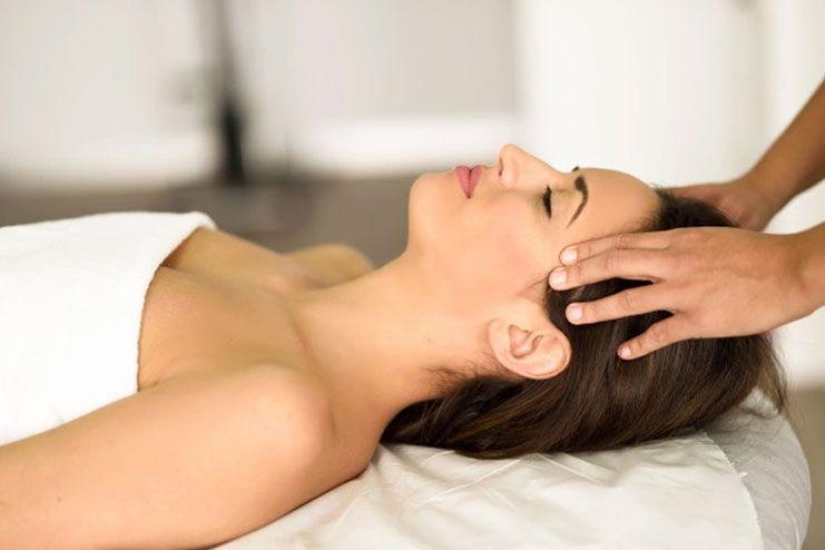 Get a head massage