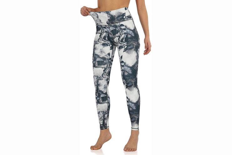 ODODOS Womens High Waisted Pattern Pocket Full-Length Yoga Leggings