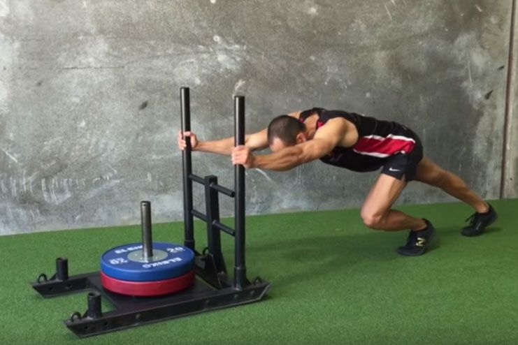 Prowler Sled Push As A Squat Alternative For Bad Knees