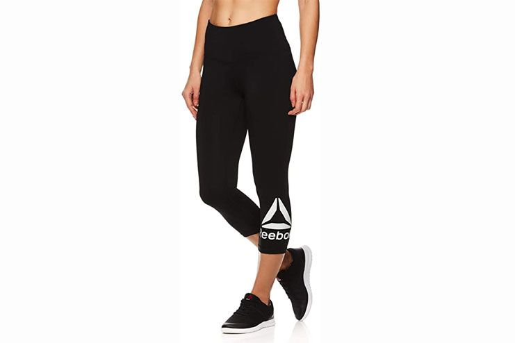 Reebok Womens Fitness High Rise Athletic Leggings