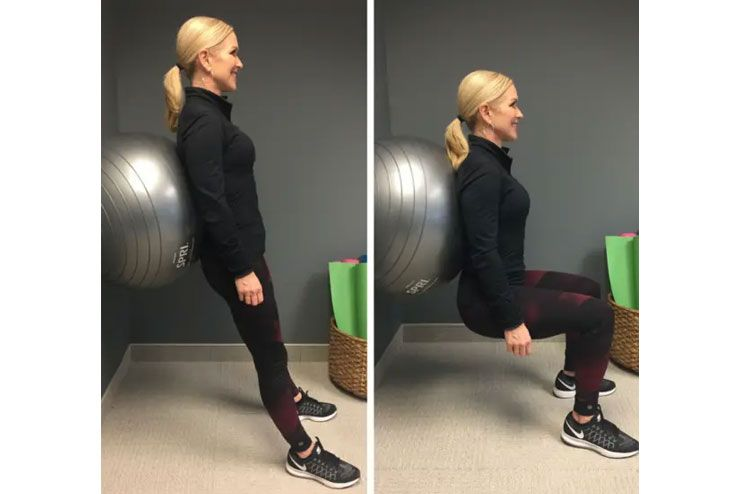 Spread Your Squats With A Stability Ball