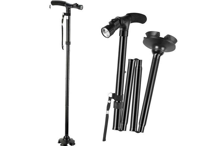 TigerBoss Foldable Ergonomic Walking Cane Crutch