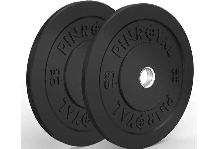 PINROYAL Bumper Plates 10LB-15LB Set Olympic Weight Plates