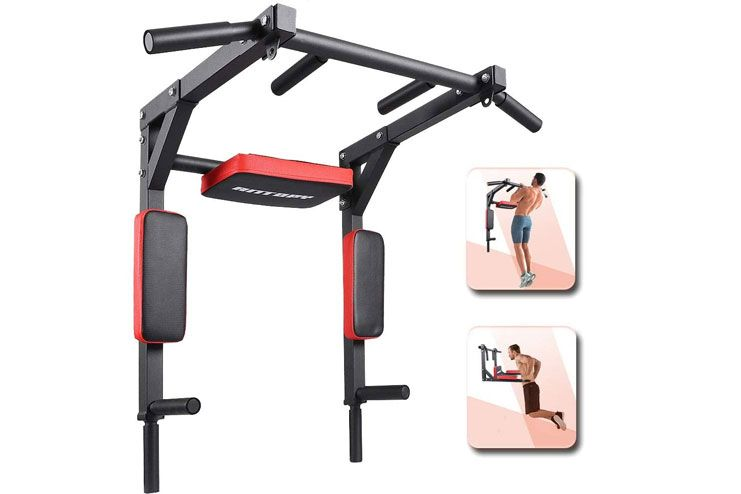 ANTOPY Pull Up Bar Wall Mounted Chin Up Bar Dip Stand Power Tower
