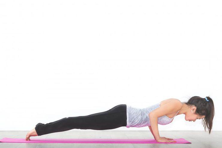 Bent-knee push up