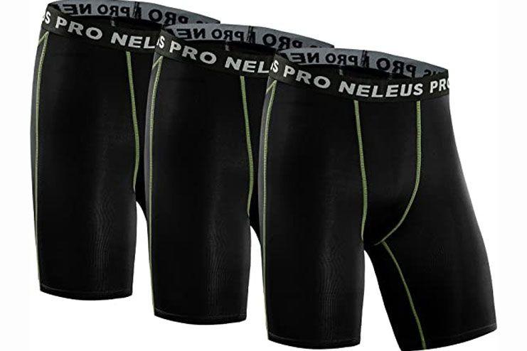 Neleus Mens 3 Pack Compression Short