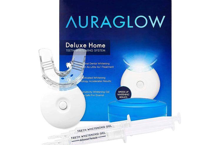 AuraGlow Teeth Whitening Kit LED Light