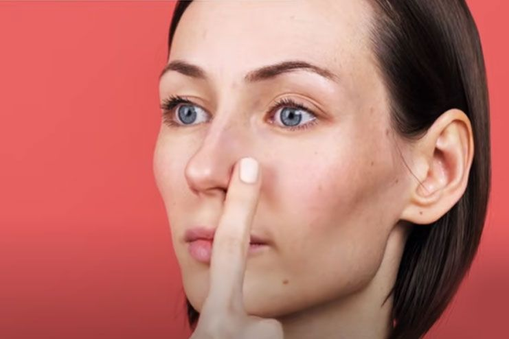 Inhale and exhale exercise for sharp nose