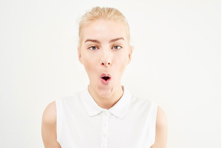 Sharpen your nose with mouth exercise