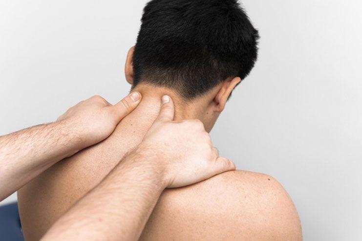 Techniques for neck and shoulders massage