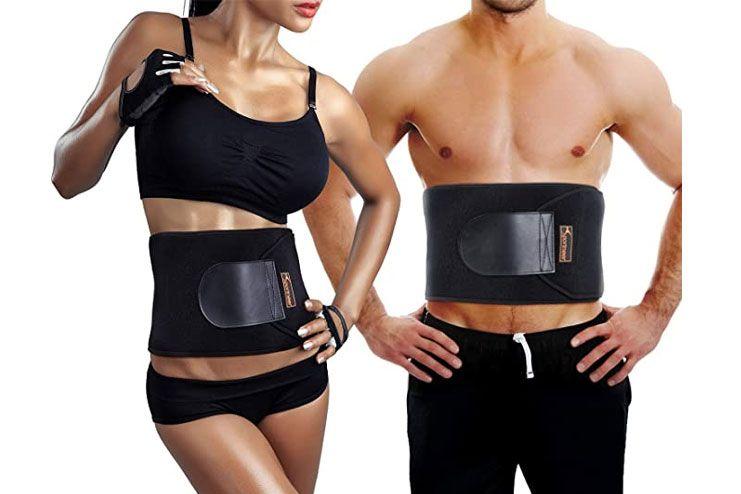 Sportneer Waist Trimmer Belt for Men Women Adjustable Workout Ab Trainer Belt