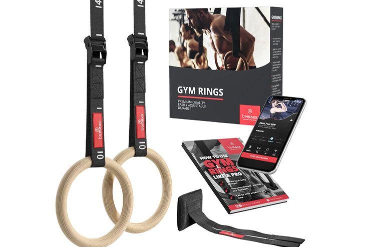 Gymnastic Rings Set Wood