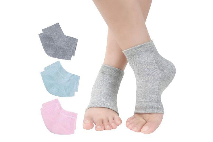 Vented Moisturizing Gel Heel Socks