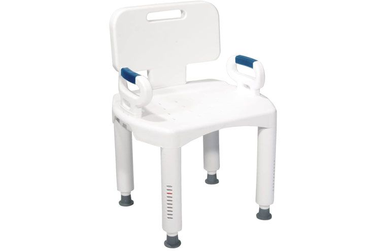 Drive Medical RTL12505 Premium Series Shower Chair with Back and Arms