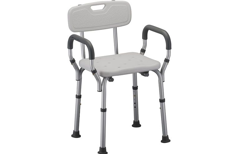 NOVA Medical Products Shower and Bath Chair with Back Arms