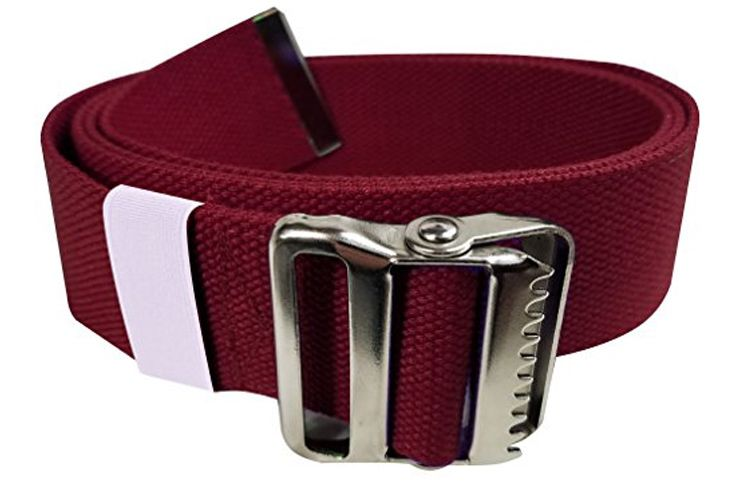 LiftAid Walking Gait Belt and Patient Transfer with Metal Buckle and Belt Loop Holder for Nurse