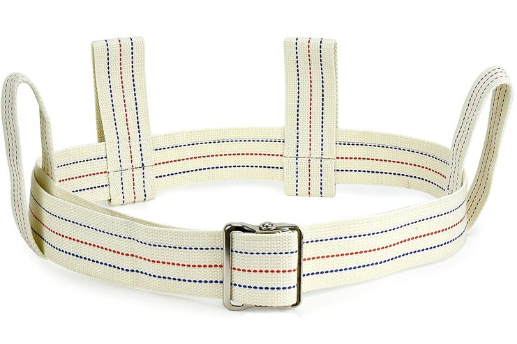 Medical Gait Belt Soft Nylon Transfer Belt with 6 Handles