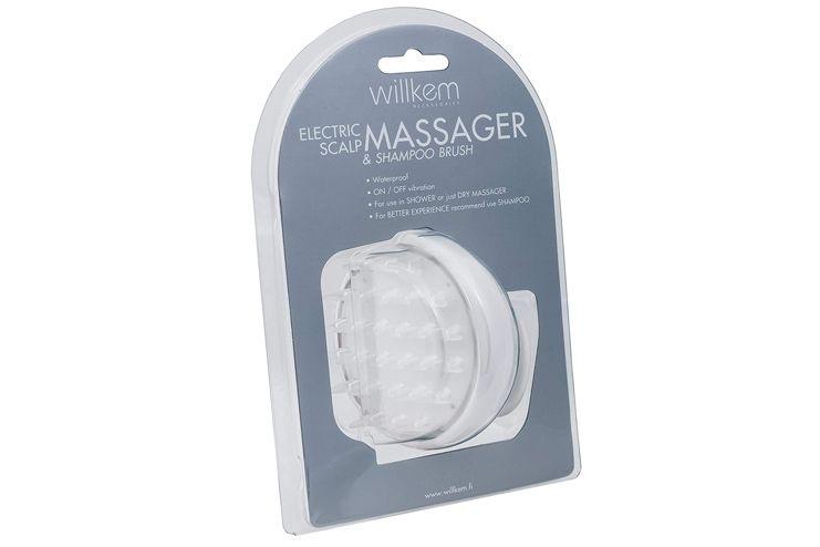 Shampoo Brush Vibrating Scalp Massager Electric Handheld Soft Hair Scrubber